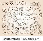 calligraphic elegant elements... | Shutterstock .eps vector #1225801174