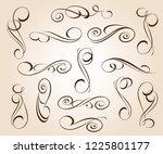 calligraphic elegant elements... | Shutterstock .eps vector #1225801177