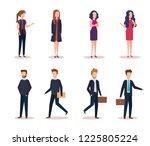 elegant business people... | Shutterstock .eps vector #1225805224
