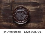 chocolate pudding mousse | Shutterstock . vector #1225808701