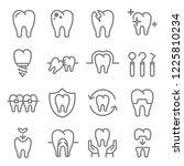dental instrument vector line... | Shutterstock .eps vector #1225810234