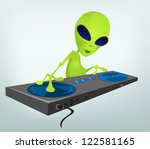 cartoon character funny alien...