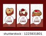 confectionery desserts. set of... | Shutterstock .eps vector #1225831801