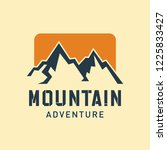 mountain logo template | Shutterstock .eps vector #1225833427