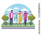 people at park | Shutterstock .eps vector #1225838941