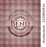 bend red seamless emblem with...   Shutterstock .eps vector #1225844914