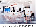 internet of things conceptual.  ... | Shutterstock . vector #1225855027