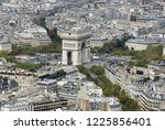 triumphal arch from the eiffel... | Shutterstock . vector #1225856401