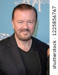 Small photo of NEW YORK, NY - NOVEMBER 09: Honoree Ricky Gervais and Jane Fallon attend The Humane Society's 9th Annual to the Rescue! Gala at Cipriani 42nd Street on November 9, 2018 in New York City.