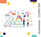 creative people collection....   Shutterstock .eps vector #1225857334