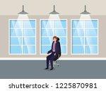 corridor building with...   Shutterstock .eps vector #1225870981