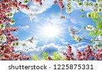 birds in the sky blooming very... | Shutterstock . vector #1225875331