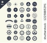 set of vintage nautical labels  ... | Shutterstock .eps vector #1225885291