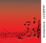 abstract music background with... | Shutterstock .eps vector #12258949