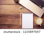 top view with copy space ... | Shutterstock . vector #1225897057