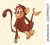 cartoon monkey character....   Shutterstock .eps vector #1225904617