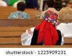 woman in regional cloths from...   Shutterstock . vector #1225909231