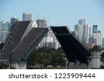 miami florida open drawbridge... | Shutterstock . vector #1225909444