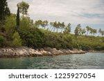 green coastline with sharp...   Shutterstock . vector #1225927054