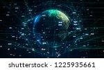global network illustration  3d ... | Shutterstock . vector #1225935661