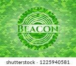 beacon green emblem. mosaic... | Shutterstock .eps vector #1225940581