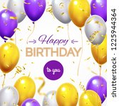 greeting card with balloons.... | Shutterstock .eps vector #1225944364