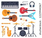 music instruments. orchestra... | Shutterstock .eps vector #1225944367