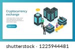 cryptocurrency exchange landing ... | Shutterstock .eps vector #1225944481