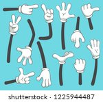 cartoon arms. doodle gloved... | Shutterstock .eps vector #1225944487
