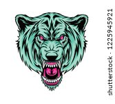 angry bear face | Shutterstock .eps vector #1225945921