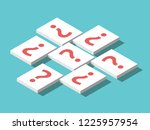 isometric white cards with... | Shutterstock . vector #1225957954
