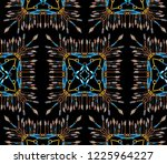 black background pattern with... | Shutterstock . vector #1225964227