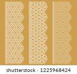 vector set of line borders with ...   Shutterstock .eps vector #1225968424
