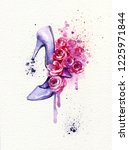 heels and roses. fashion... | Shutterstock . vector #1225971844