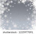 2d illustration. snowflakes on... | Shutterstock . vector #1225977091