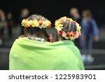 two girls  members of the dance ... | Shutterstock . vector #1225983901