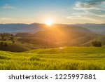 small house and rice terraces... | Shutterstock . vector #1225997881