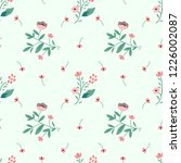 seamless pattern with... | Shutterstock .eps vector #1226002087