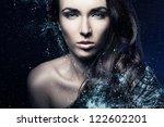 fashion art portrait .beauty... | Shutterstock . vector #122602201