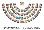 vector illustration. lecturer... | Shutterstock .eps vector #1226024587