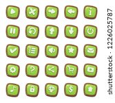 set of 25 green jelly icons in...