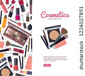 woman cosmetic magazine cover.... | Shutterstock .eps vector #1226027851