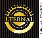 eternal gold shiny emblem | Shutterstock .eps vector #1226032921