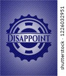 disappoint badge with denim... | Shutterstock .eps vector #1226032951