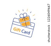 loyalty card  incentive gift ... | Shutterstock .eps vector #1226049667