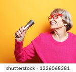lifestyle  and people concept ... | Shutterstock . vector #1226068381