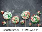 peppermint meringue   homemade... | Shutterstock . vector #1226068444
