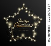 holiday's background for merry... | Shutterstock . vector #1226071597