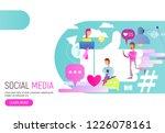 modern flat design concept of... | Shutterstock .eps vector #1226078161