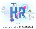 hiring  job interview and...   Shutterstock .eps vector #1226078164